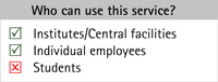 Services for Instituts/Central facilities; Individual employees